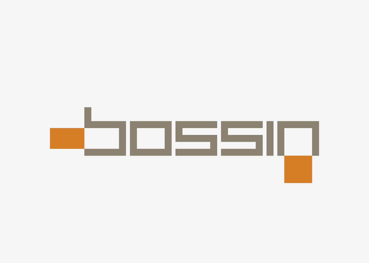 The new visual identity of the Bossin company