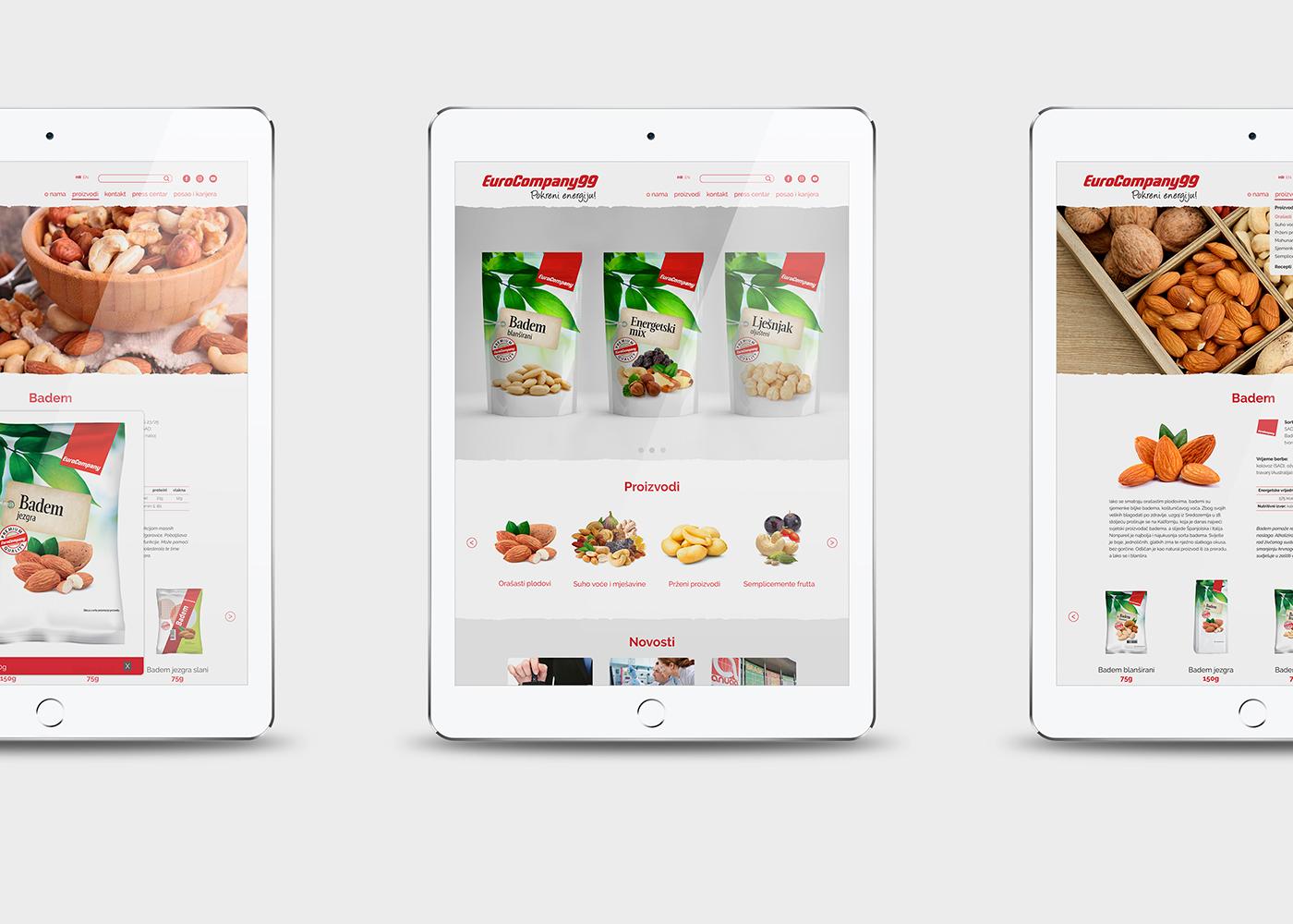 Dizajn web stranice tvrtke Eurocompany99