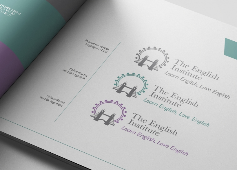 Vizualni identitet škole engleskog jezika