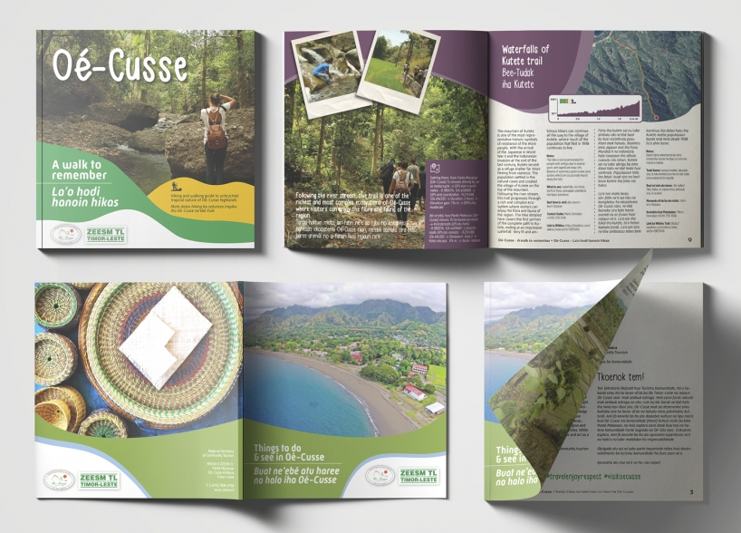 Brochure Cover design and Brochure Layout for Oe-Cusse region in East Timor
