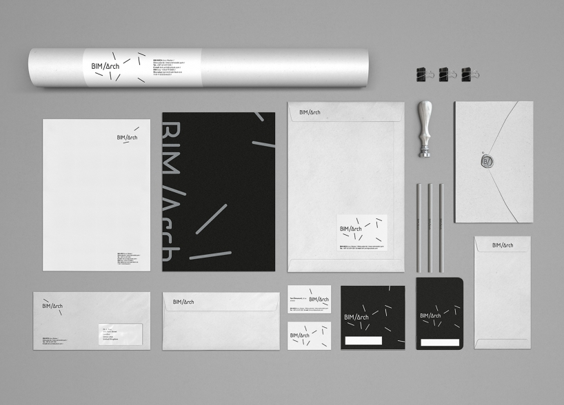 Brand identity for the new architectural firm Bim Arch