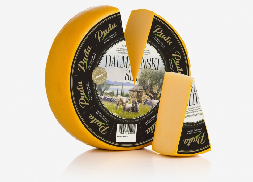 "Packaging design for ""Dalmatinski sir"""