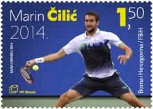 Briefmarke zu Ehren Marin Čilić