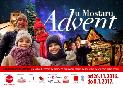 Vizualni identitet za Advent u Mostaru, shift brand design