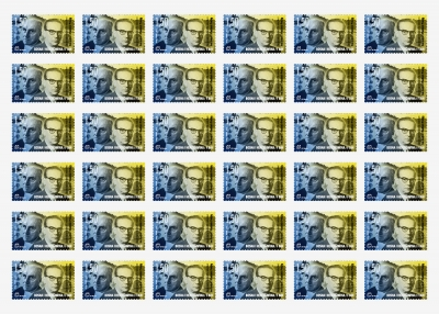 Postage stamp design B&H Nobel Laureates