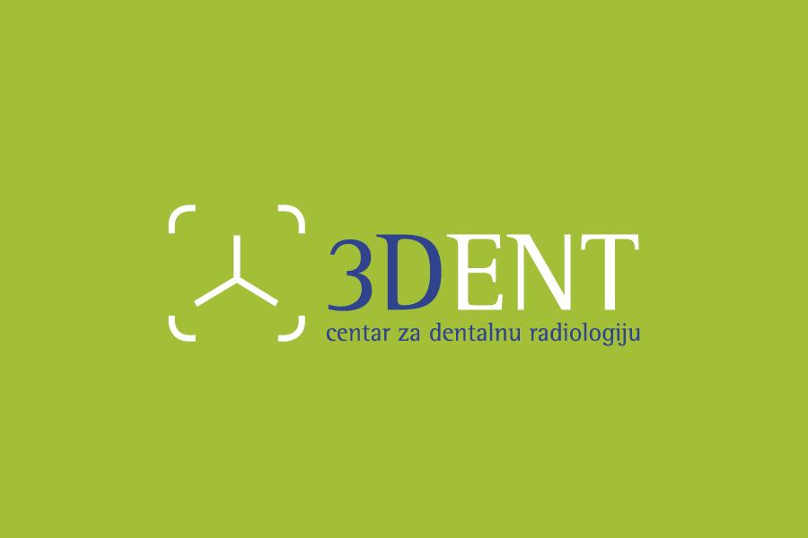 vizualni identitet 3DENT negativ logotipa