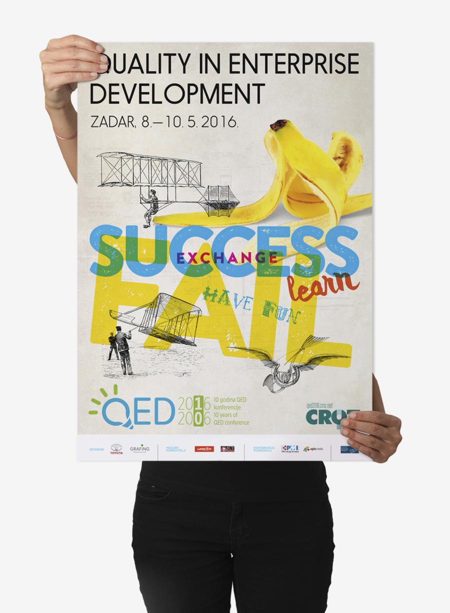 Quality in Enterprise Development konferencija dizajn plakata shift mostar
