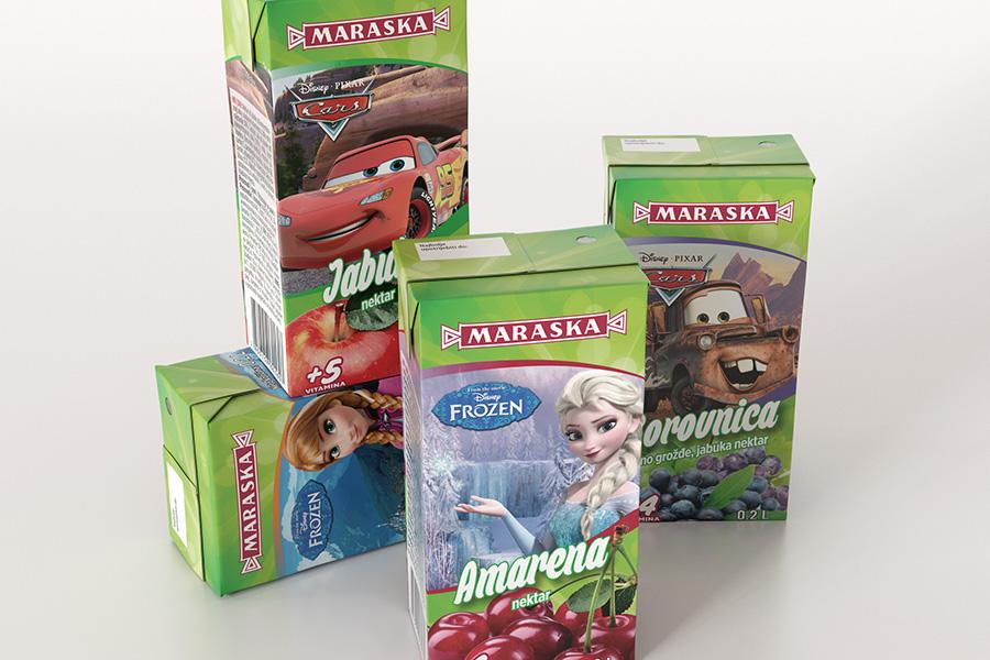 Dizajn pakiranja za franšizu Disney sokova -Frozen, Cars, Zootropolis shift