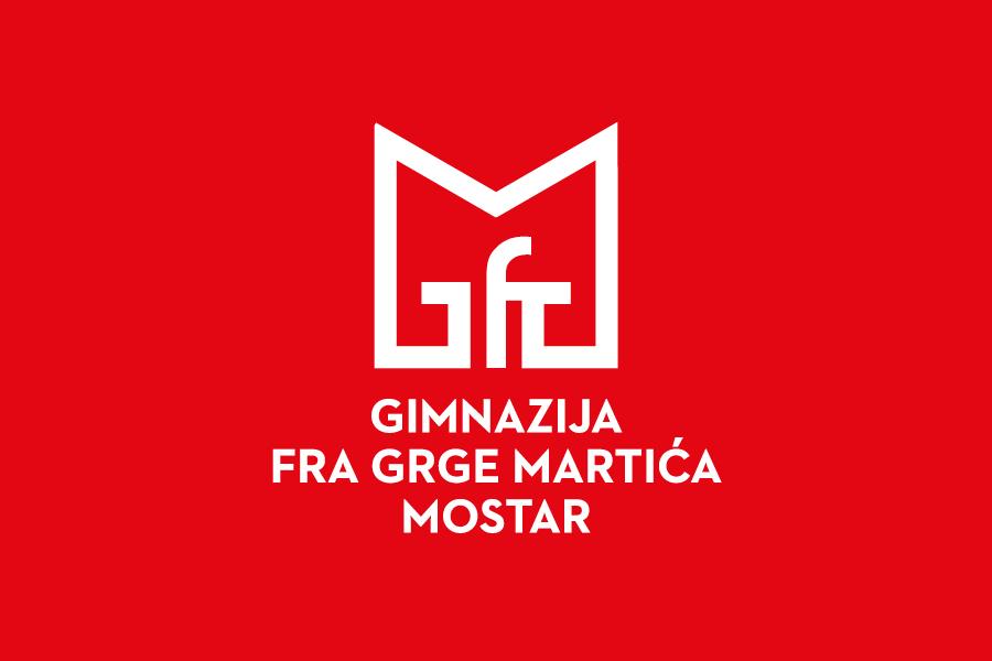 Vizualni identitet obrazovne institucije gimnazija fra grga martić logotip