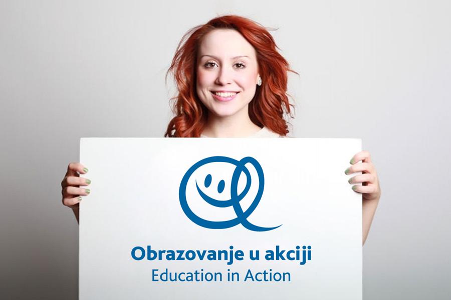 Dizajn logotipa Education in Action, vizualni identitet