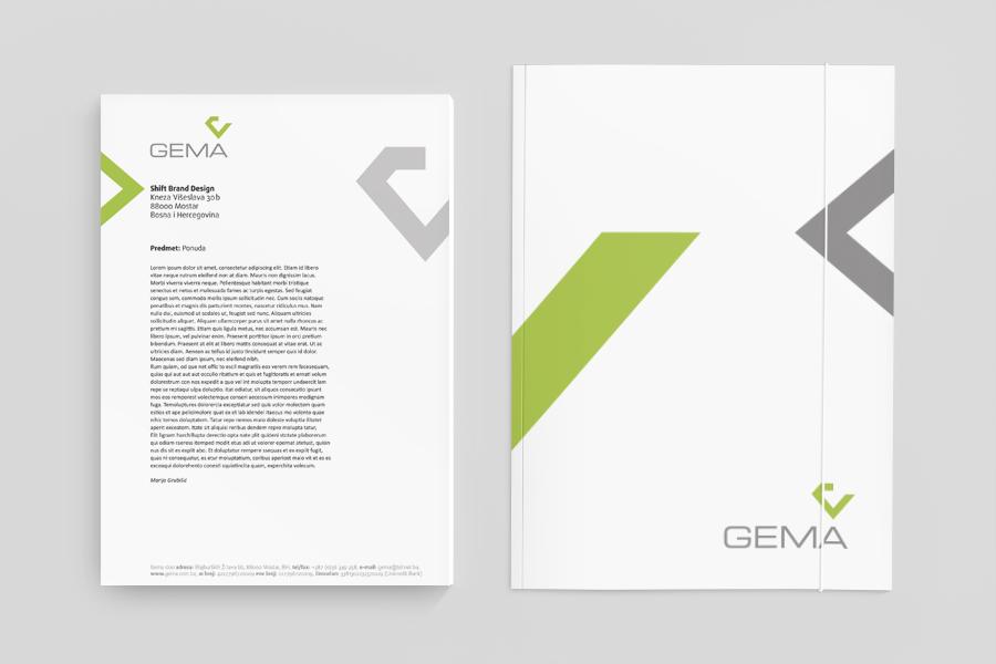 vizualni identitet gema d.o.o. shift agencija