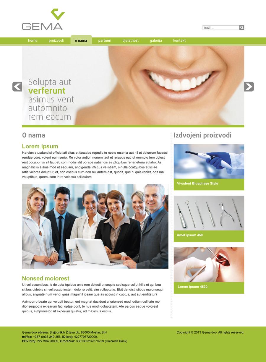 vizualni identitet gema d.o.o. dizajn web stranice