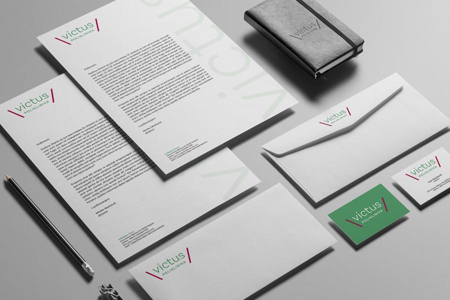 Vizualni identitet i signalizacija zagrebačke poliklinike dizajn memoranduma graficka agencija