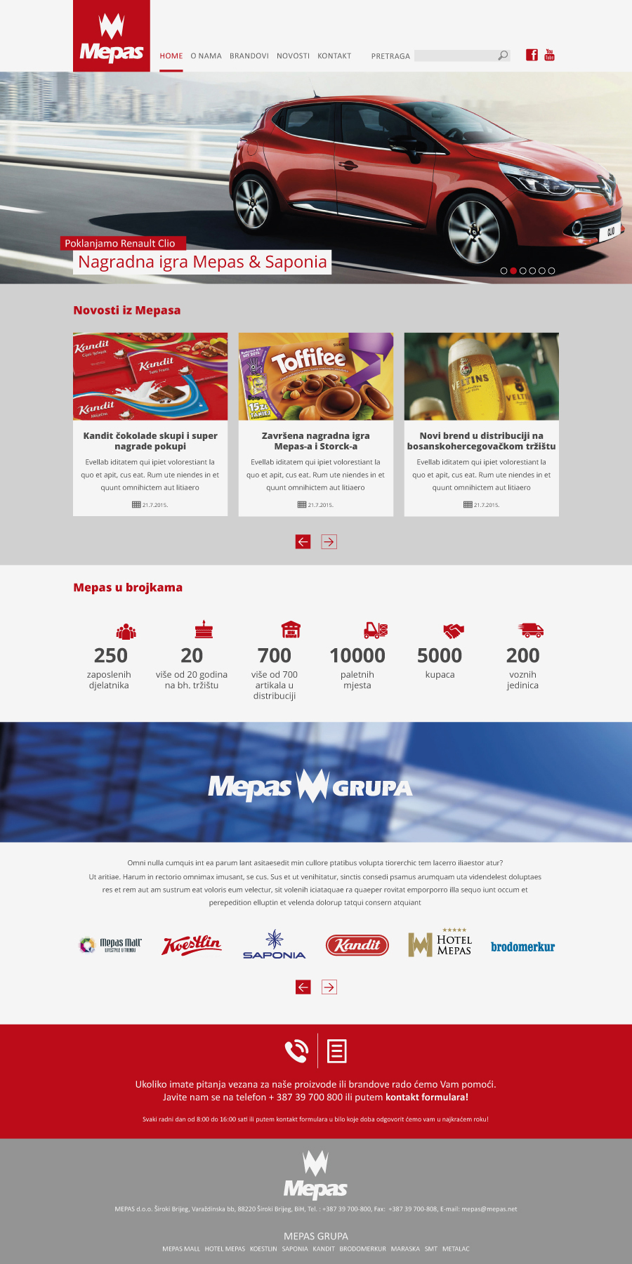 Mepas dizajn web stranice