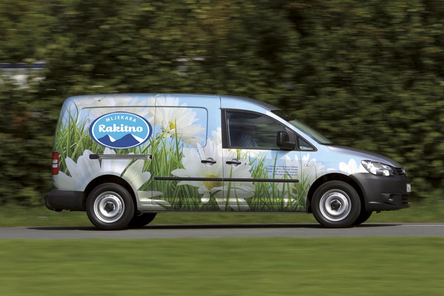 vizualni identitet mljekara rakitno oslikavanje vozila