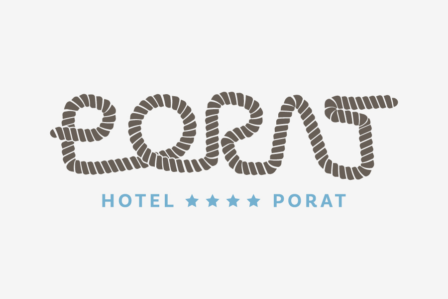 Vizualni identitet Hotela Porat dizajn logotipa shift