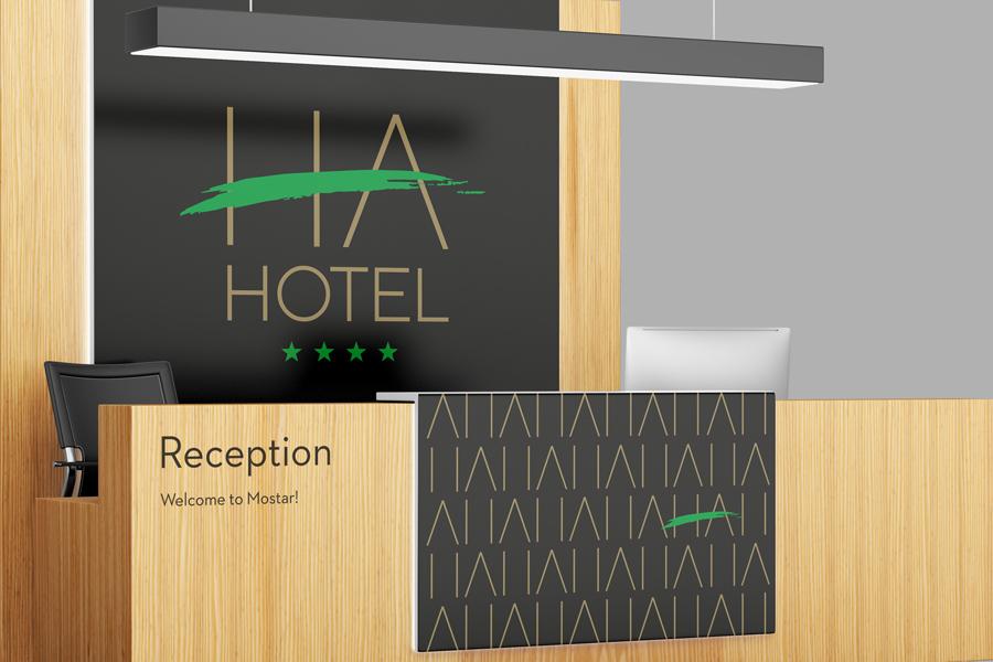Vizualni identitet hotela HA u Mostaru