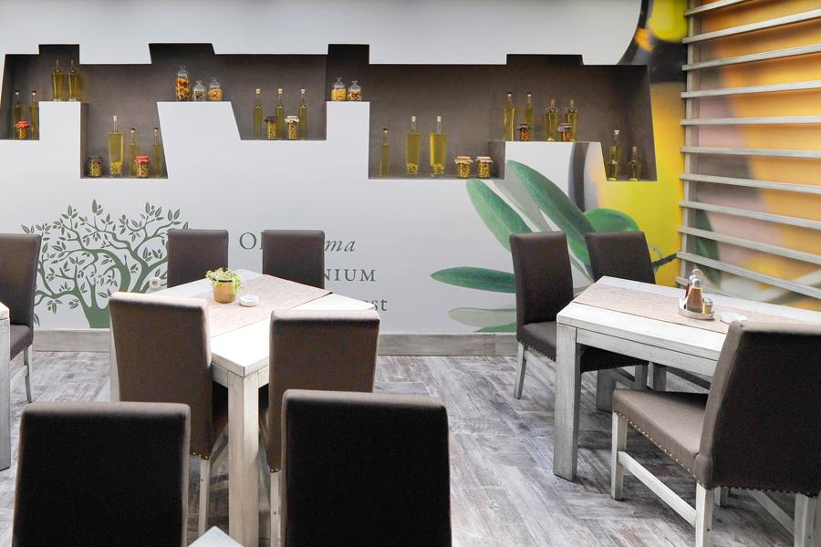 vizualni identitet restoran maslina objekt