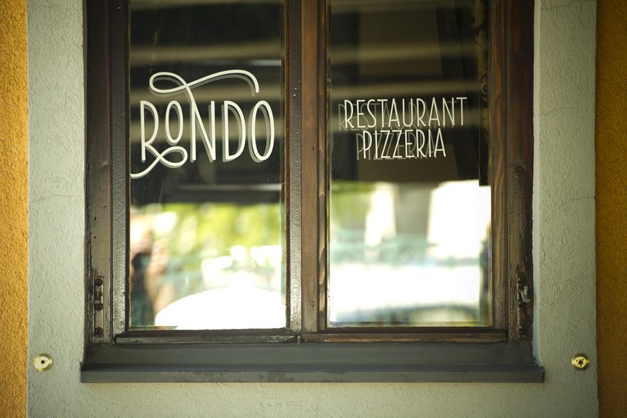 iVizualni identitet restorana Rondo, interijer restorana, dizajn