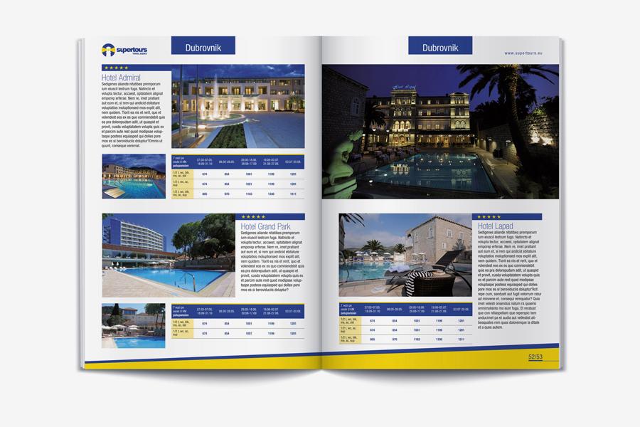 Vizualni identitet turističke agencije knjiga grafičkih standarda