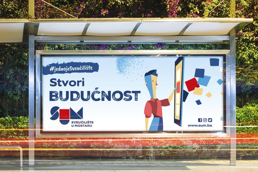 Promotivna kampanja Sveučilišta u Mostaru graficki dizajn graphic design