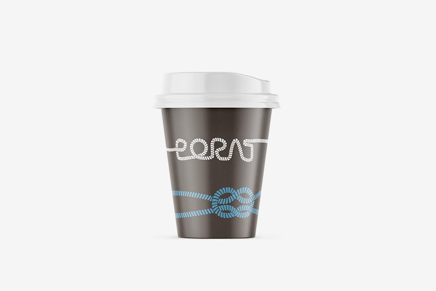 Vizualni identitet Hotela Porat primjena logotipa čaša
