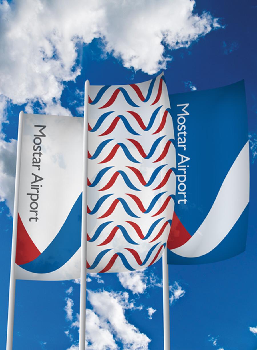 Redizajn logotipa Zračne luke zastava shift agencija