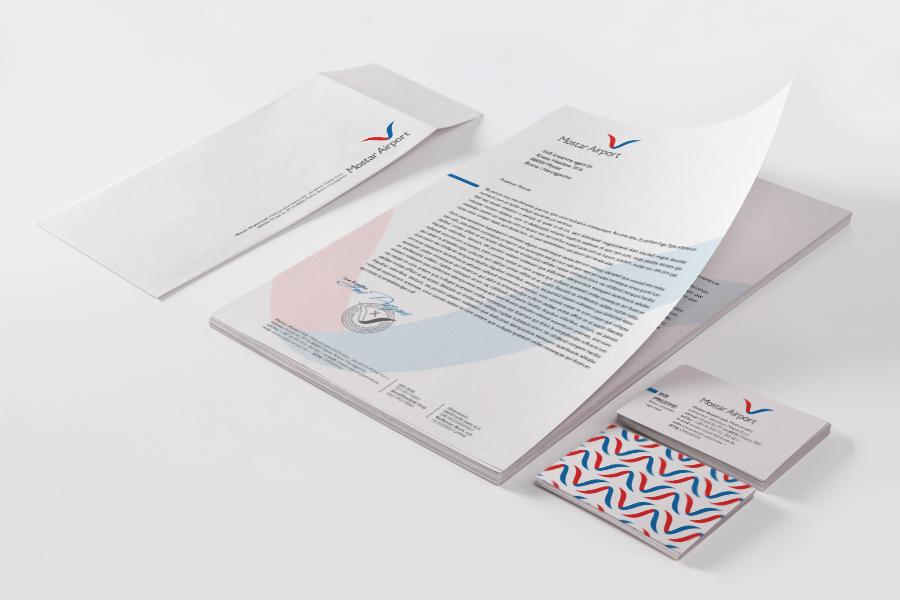 Redizajn logotipa Zračne luke memorandum vizitke