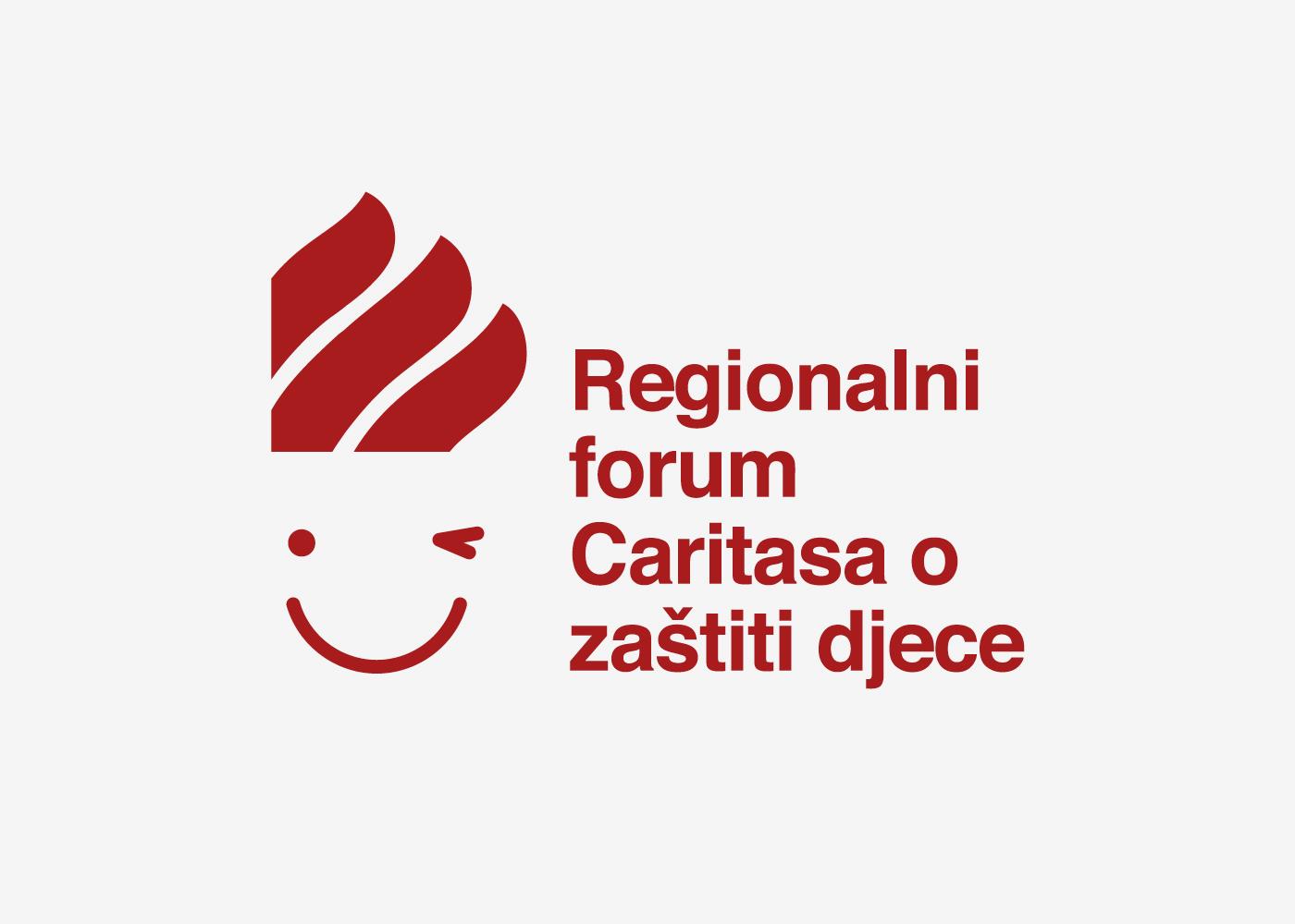 Dizajn vizualnog identiteta i pratećeg materijala za Regionalni forum Caritasa o zaštiti djece