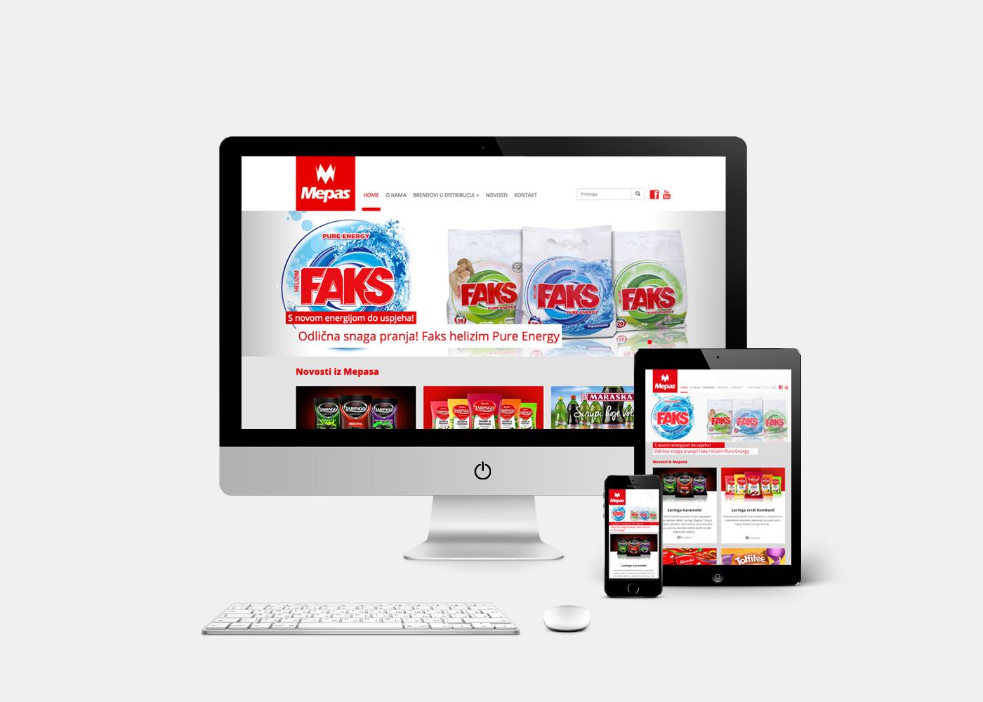 Dizajn web stranice tvrtke Mepas, Široki Brijeg