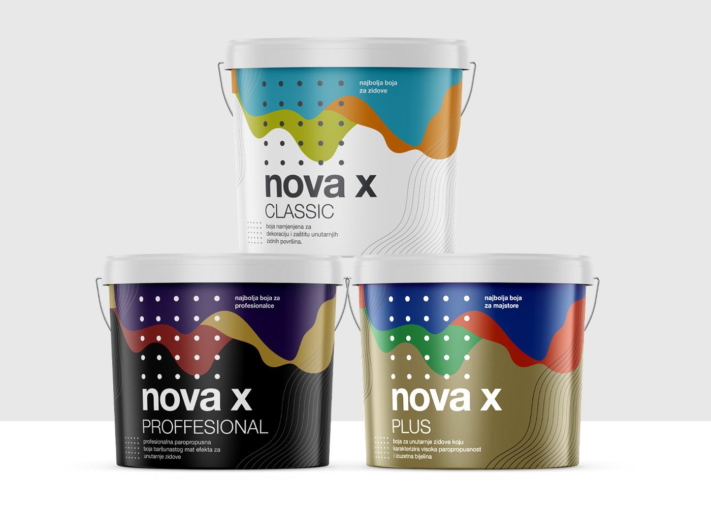 Vizualni identitet kolekcije proizvoda Nova X
