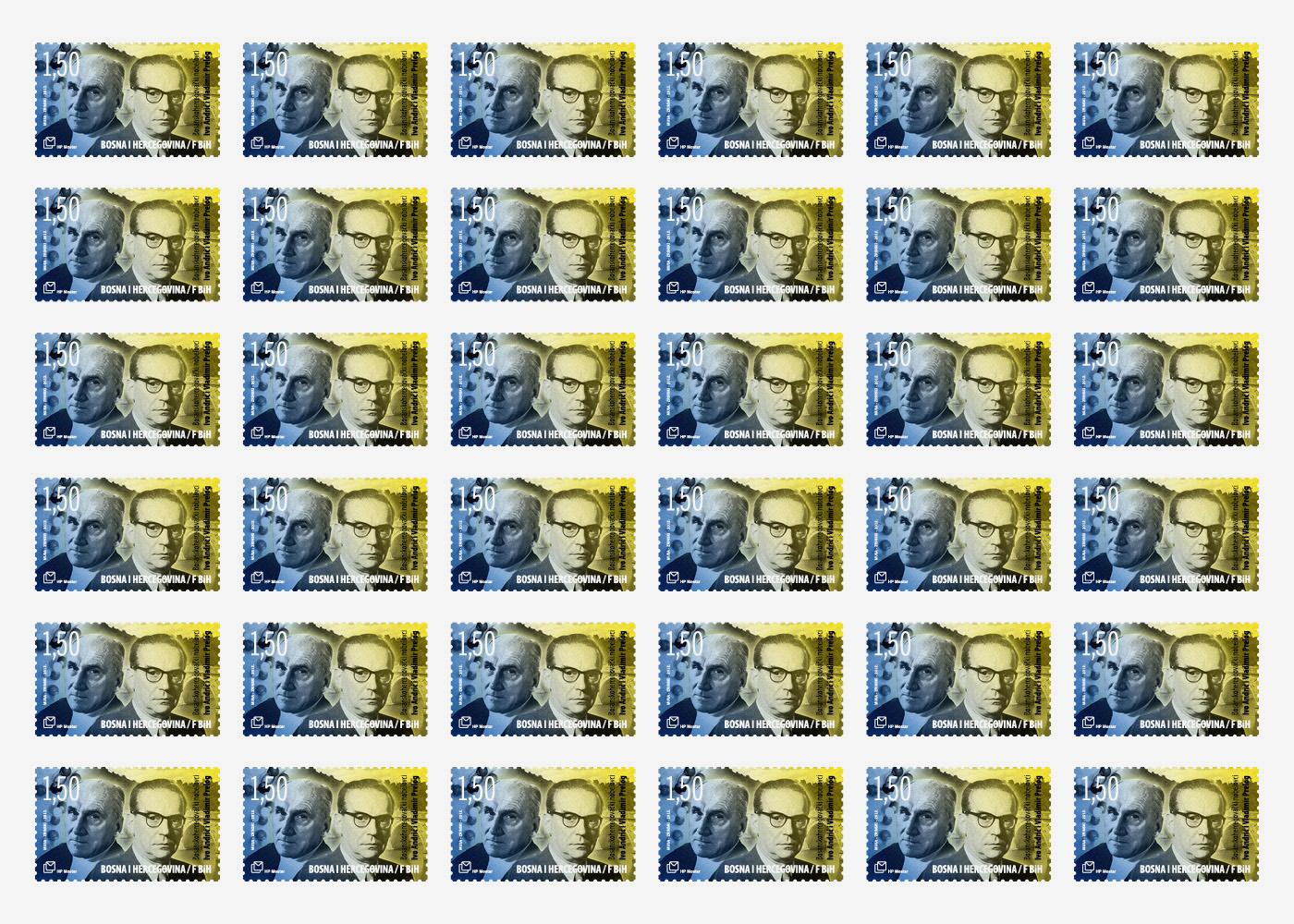 Dizajn poštanske marke BiH Nobelovci
