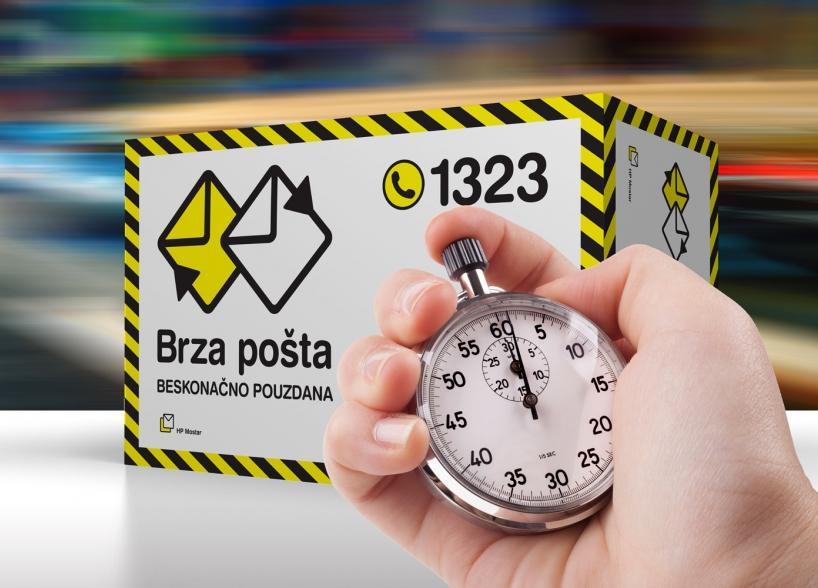 Brza pošta - nova usluga HP Mostar, novi vizualni identitet