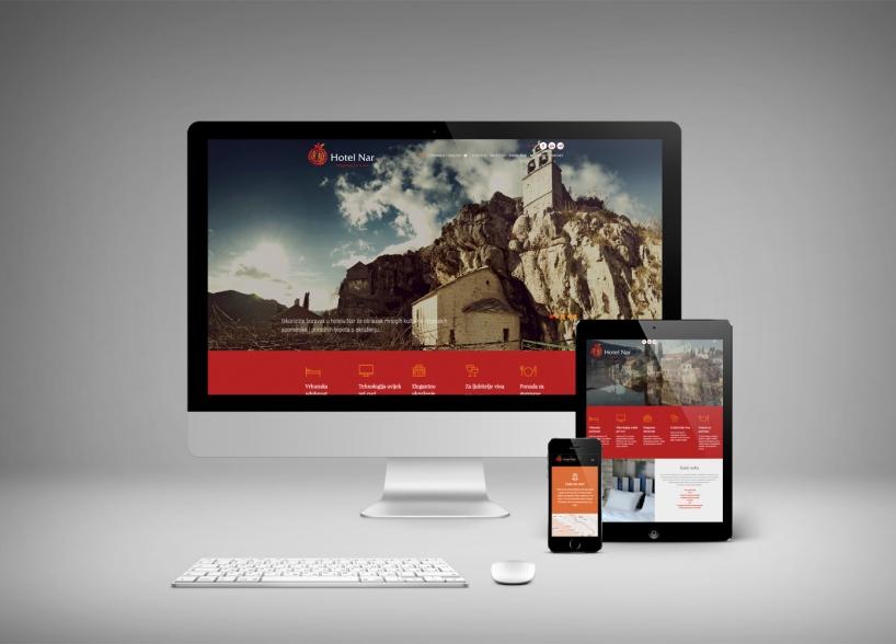 Vizualni identitet i web dizajn za Hotel NAR