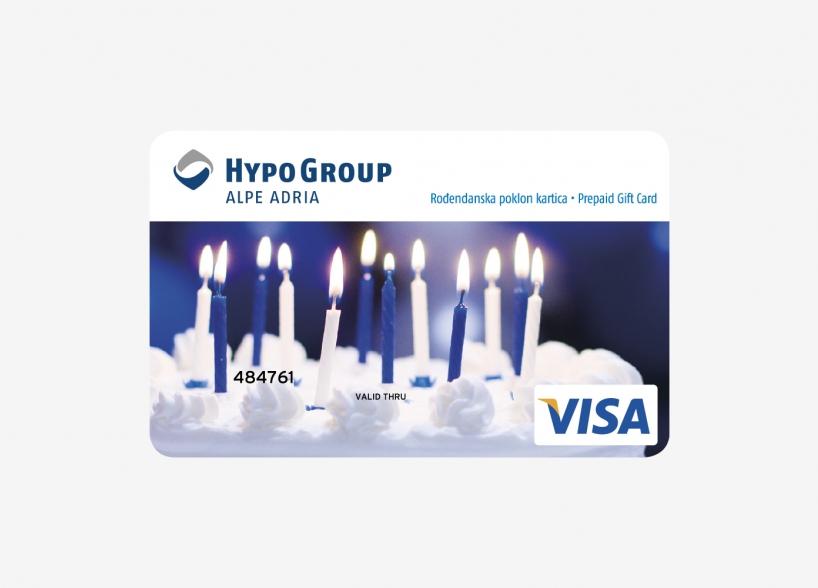 Dizajn Visa prepaid kartice