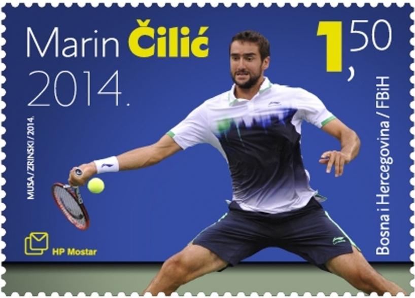 Poštanska marka u čast Marinu Čiliću