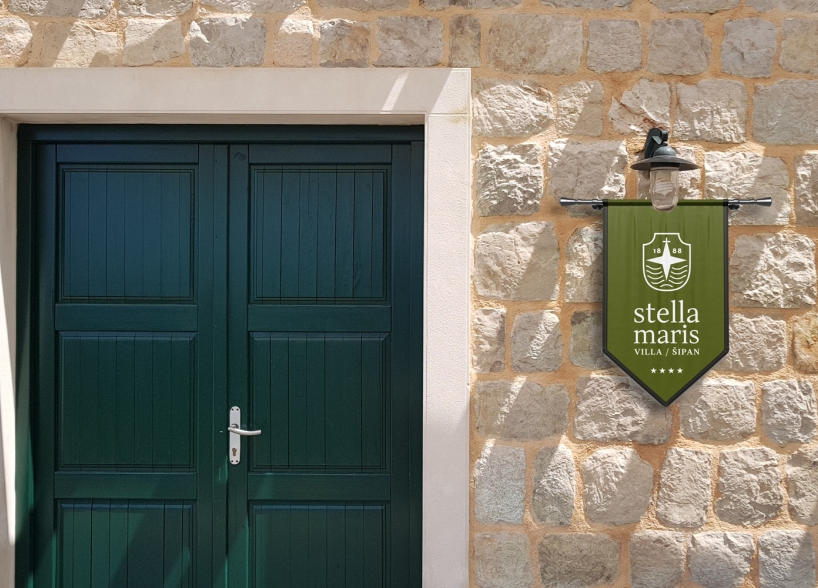 Brand identity and marketing materials design for a luxury residence on the beautiful island of Šipan (Croatia)